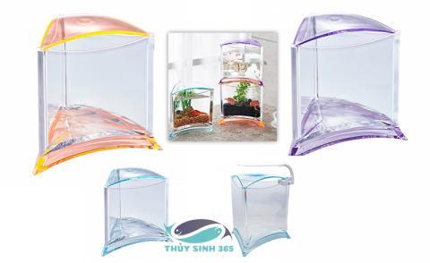 Bể cá mini hình tam giác nhập khẩu Taiwan