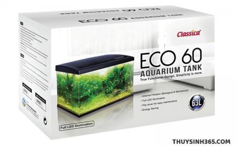 Bể cá mini kính siêu trong Classica Eco 60 Tank nhập khẩu Singapore