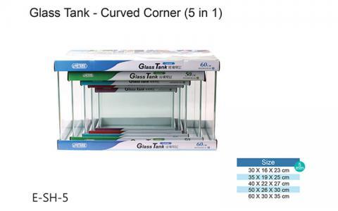 Bộ sản phẩm bể cá mini Tank Curved Corner nhập khẩu Trung Quốc