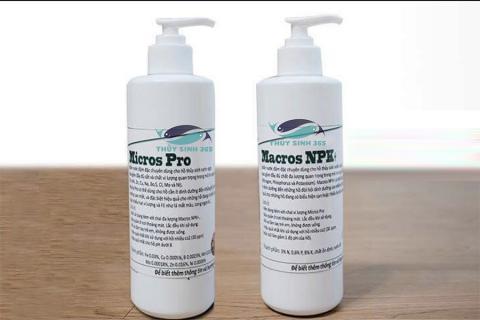 Set 2 chai phân nước thủy sinh Macros NPK và Macros Pro
