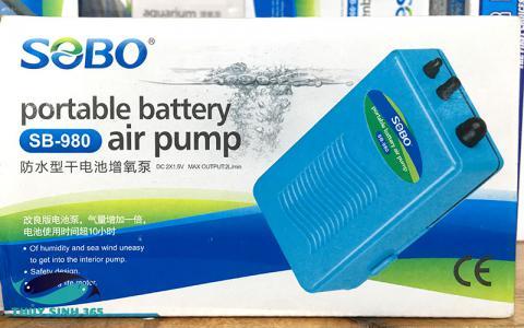 Sủi oxy Sobo SB-980 chạy pin