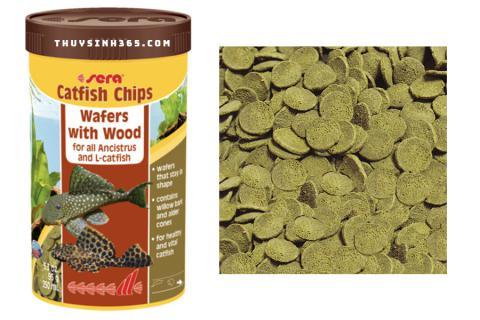 Thức ăn cho cá lau kiếng Catfish - Sera Catfish Chip loại 95g