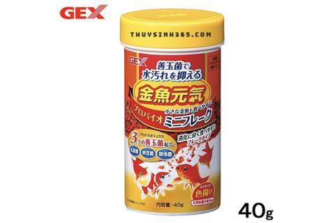 Thức ăn cho cá vàng nhỏ Gex Goldfish Happy Probio Mini Flake 40g