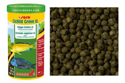 Thức ăn dành cho cá Cichlid lớn Sera Cichlid Green XL