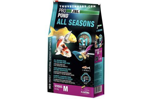 Thức ăn tổng hợp cho cá Koi JBL ProPond All Season 4 trong 1